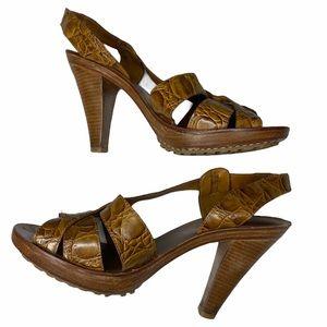 Michael Kors Brown Heel Sandal SZ 6 1/2